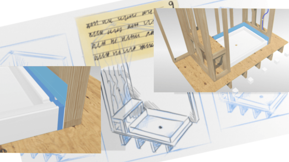 Early concept sketches and 3d mockup